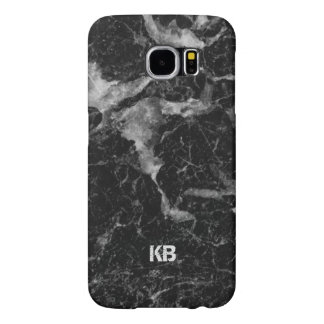 Image Of Black & Grey Marble Texture Samsung Galaxy S6 Cases