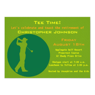 Image of golfer Retirement Party Invitation
