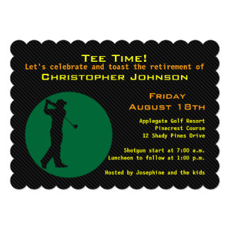 Image of golfer Retirement Party Invitation