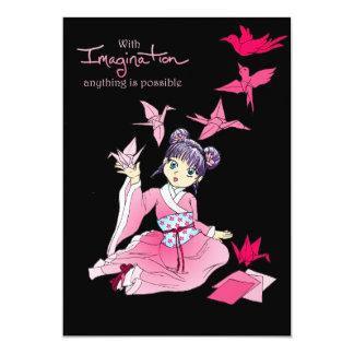 Imagination 13 Cm X 18 Cm Invitation Card