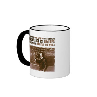 Imagination is more important than knowledge ringer mug