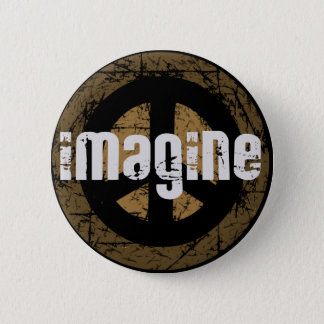 Imagine peace 6 cm round badge