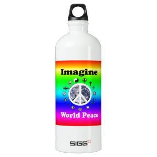 Imagine World Peace Water Bottle