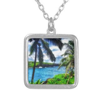 IMG_1122 4 Hawaiian Scene Silver Plated Necklace