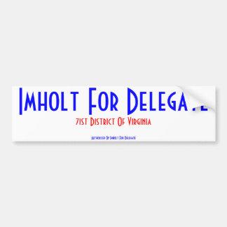 Imholt For Delegate Bumper Sticker