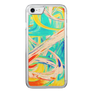 Immersed in Vividness Abstract Carved iPhone 8/7 Case