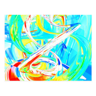 Immersed in Vividness Abstract Postcard