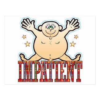 Impatient Fat Man Postcard