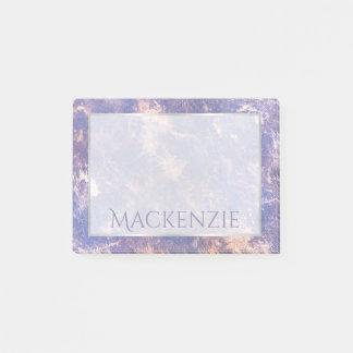 Impatient Office | Name Lavender Lilac Purple Gold Post-it Notes