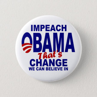 Impeach Obama 6 Cm Round Badge
