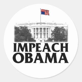 Impeach Obama Round Sticker