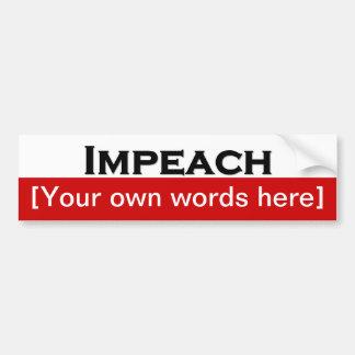 impeach-template car bumper sticker