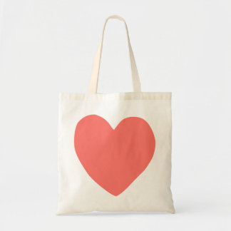 imperfect heart (salmon) tote bag
