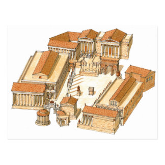 Imperial Forum. Rome. Aerial view Postcard