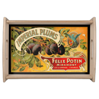 Imperial Plums Produce Crate Label - Serving Tray
