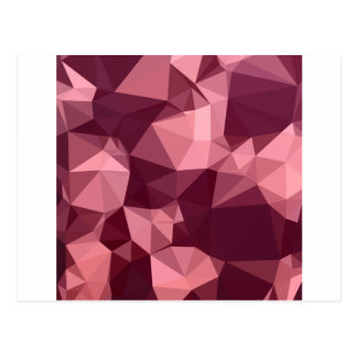 Imperial Purple Abstract Low Polygon Background Postcard