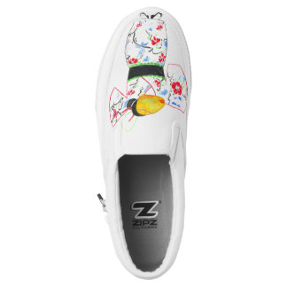 """Import-Ant (Japanese Edition)"" in Watercolor Shir Slip-On Shoes"