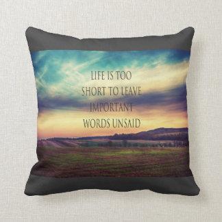 Important Words landscape Cushion