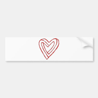 Impossible Heart Optical Illusion Bumper Stickers