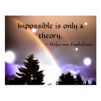 Impossible is only a Theory Motivation Inspiration Postcard