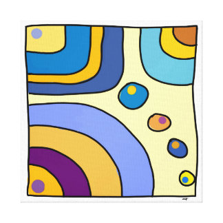 Impression on square fabric 30,48cm Bubble Gum Art Canvas Print