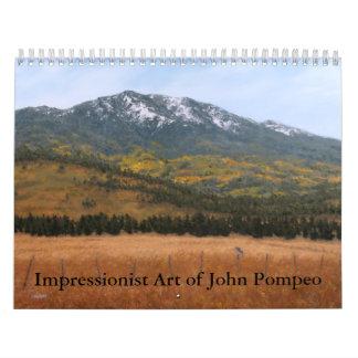 Impressionist Art of John Pompeo Calendar