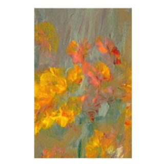 Impressionist Flowers Golds and Oranges Flyer