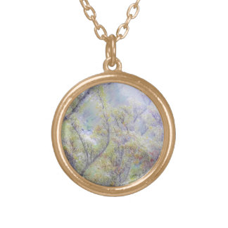 Impressionist Tree Necklace-by Fern Savannah Gold Plated Necklace