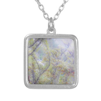 Impressionist Tree Necklace-by Fern Savannah Silver Plated Necklace