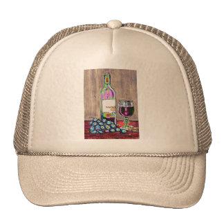 Impressionistic Wine and Grapes Art Mesh Hats