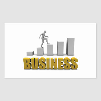 Improve Your Business  or Business Process Rectangular Sticker