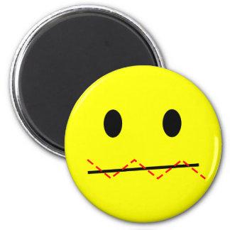 'impulse control '  SMILEY FACE MAGNET