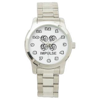 Impulse Women's Oversized Silver Bracelet Watch