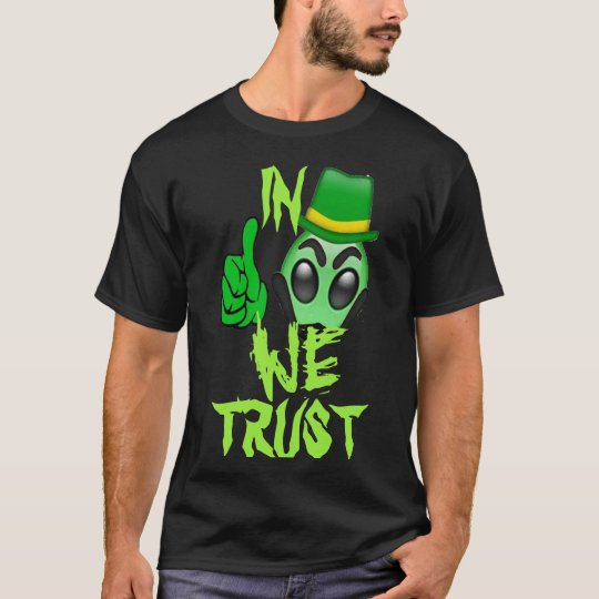 in aliens we trust funny shirt design costume idea