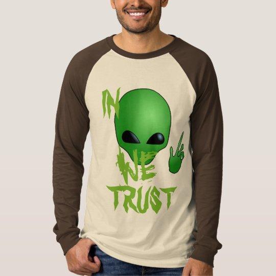 in aliens we trust funny shirt design costume idea
