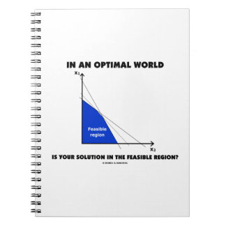 In An Optimal World Is Your Solution Feasible? Spiral Notebooks