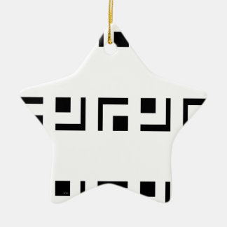 In bianco and nero christmas ornament