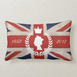 In Celebration of HM QE2 Diamond Jubilee Lumbar Pillow