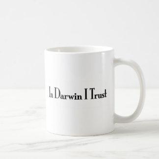In Darwin I Trust Basic White Mug