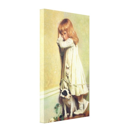In Disgrace by Charles Burton Barber Gallery Wrapped Canvas