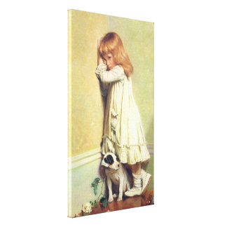 In Disgrace by Charles Burton Barber, Vintage Art Canvas Print