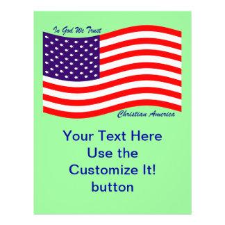 In God We Trust ~ Christian America 21.5 Cm X 28 Cm Flyer