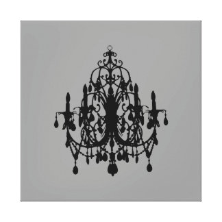 """In Love Chandelier ~XLARGE 40X40 Canvas 2.5"""" Thick"""