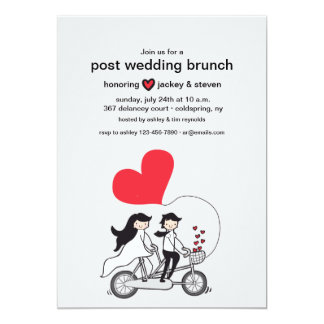 In Love Post Wedding Brunch Invitation