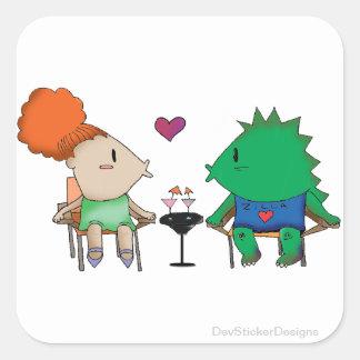 In Love with Godzilla Square Sticker