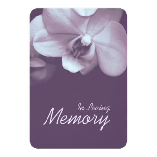In Loving Memory Orchid 3 Funeral Announcement