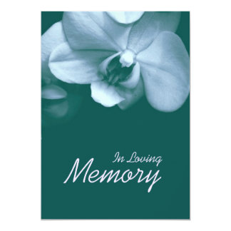In Loving Memory Orchid 4 Funeral Announcement