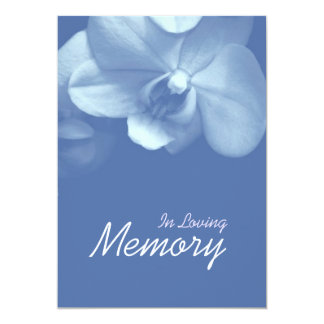 In Loving Memory Orchid 7 Funeral Announcement