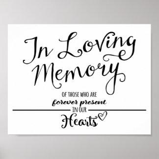 """In loving Memory"" print black and white modern"