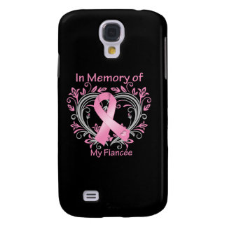 In Memory of My Fiancee Breast Cancer Heart Galaxy S4 Cases